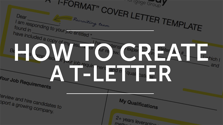 How to create a T letter instead of a regular cover letter