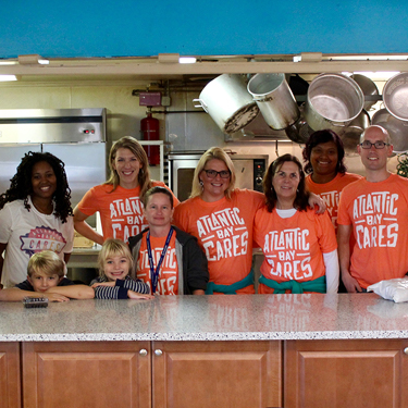 Volunteering with the team at JCOC food pantry